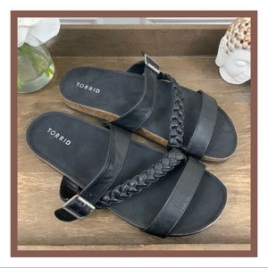 Torrid Black Sandals With Buckle | 11.5W